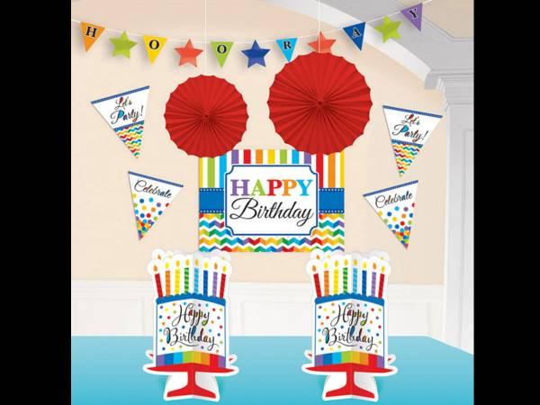 Anniversaire happy birthday colorflash Kit décos