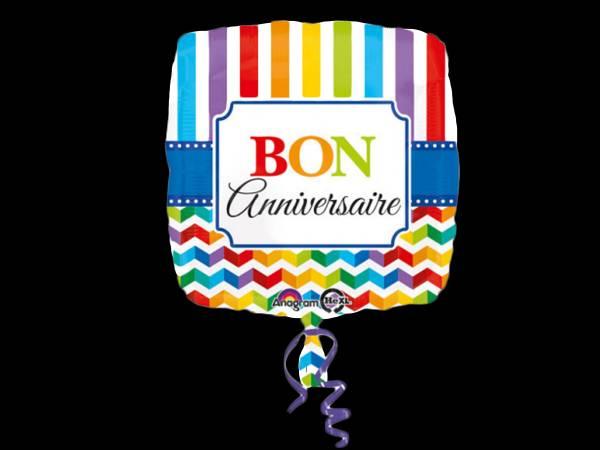 Ballon hélium Bon anniversaire Color flash