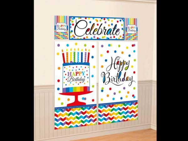 Décors mural Happy Birthday Color flash