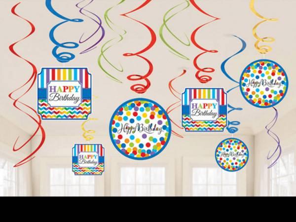 Anniversaire happy birthday colorflash Suspensions