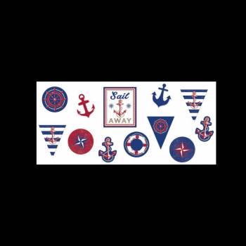 12 Décors en carton Maritime