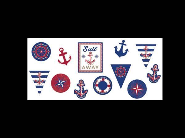 12 Décors en carton Maritime pour fête à thème mer et océan