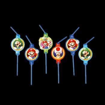 8 Pailles Mario Bros