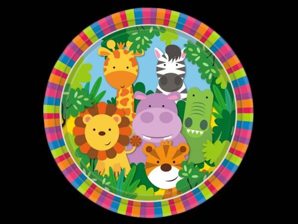 Assiettes animaux de La Jungle- deco anniversaire
