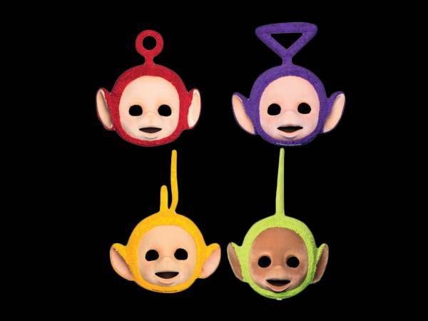 8 Masques de fête Teletubbies