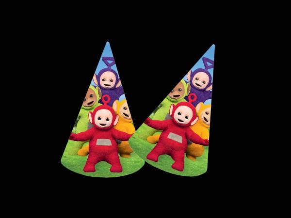 8 Chapeaux de fête Teletubbies