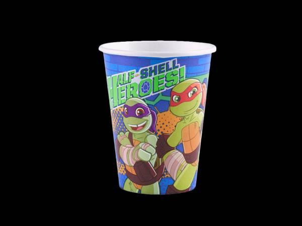 8 Gobelets Tortue Ninja half Shell Heroes