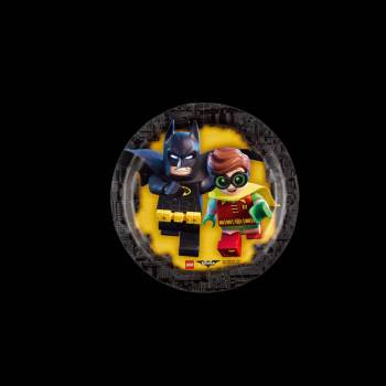 8 Assiettes dessert Lego Batman