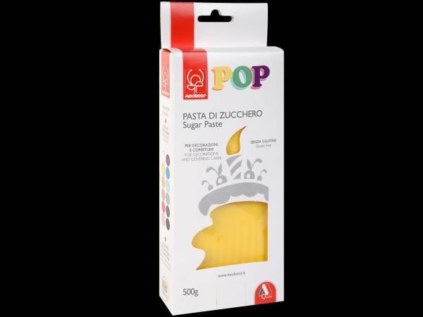 Pâte à sucre jaune soleil POP 500gr