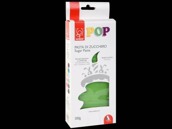 Pâte à sucre pas cher marque modécor pop couleur vert gazon 500gr