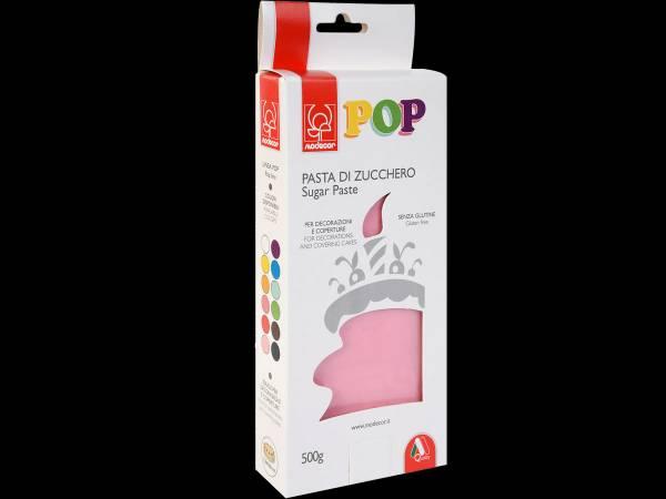 Pâte à sucre pas cher marque modécor pop couleur rose bonbon 500gr