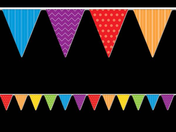 deco de salle guirlande de fanions multicolore rayures et pois. Black Bedroom Furniture Sets. Home Design Ideas