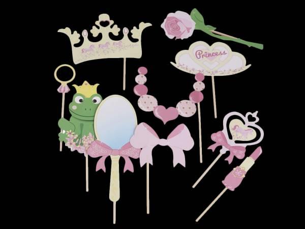 Accessoires photobooth Princesse- deco anniversaire