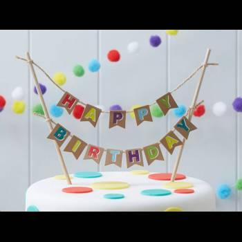 Décor de gâteau HB color nature