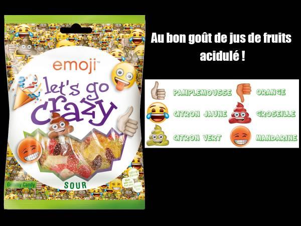 Bonbons emoji Let's go crazy- bonbons anniversaire