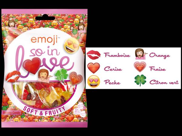 Bonbons emoji So in love- bonbons anniversaire