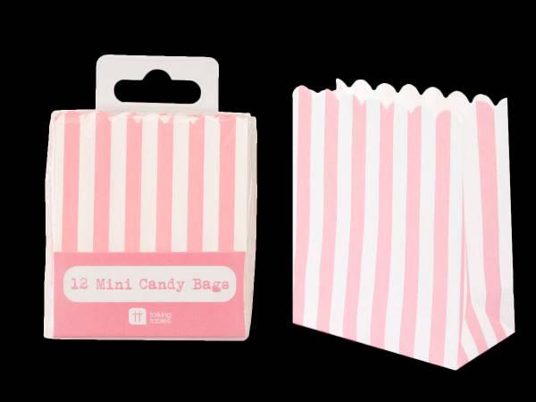 sacs en papier rayures rose