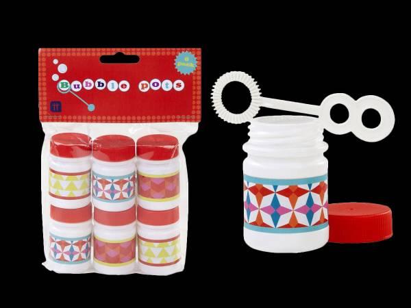 6 Mini pots à bulles circus