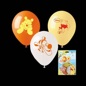 10 Ballons Winnie l'ourson