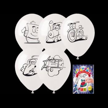 Kit 5 Ballons à colorier jouets