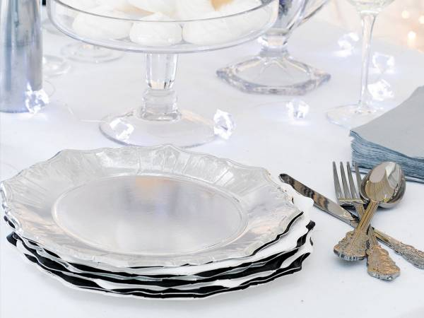 assiettes carton porcelaine baroque chic. Black Bedroom Furniture Sets. Home Design Ideas