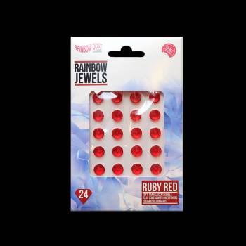 24 bijoux comestibles rubis rouge