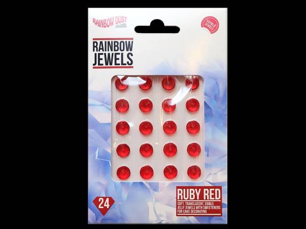 bijoux de gâteaux comestibles rubis rouge