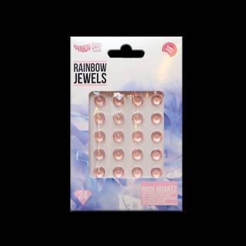 24 bijoux comestibles quartz rose