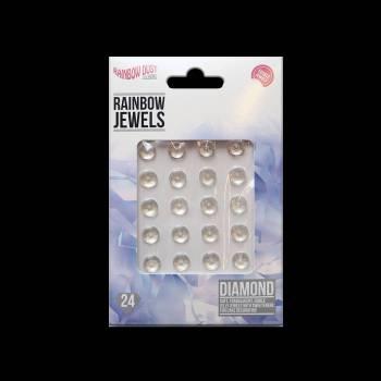 24 bijoux comestibles diamant transparent