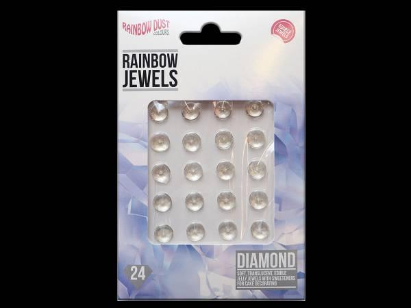 bijoux de gâteaux comestibles diamant transparent