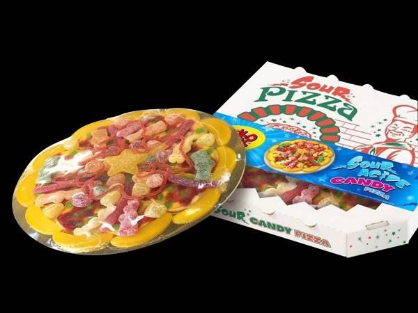 Pizza de bonbons acides pour anniversaire