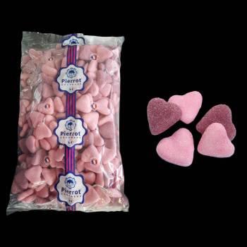 250 bonbons Coeurs guimauve rose/violet 1.5kg