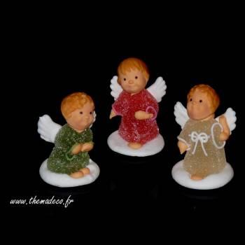 3 Anges de Noël en sucre