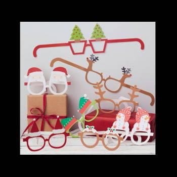 8 Lunettes à photobooth Noël