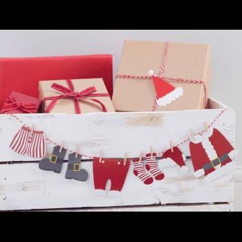 Guirlande vêtement du Père Noël