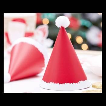 6 Mini Chapeaux de fête Père Noël