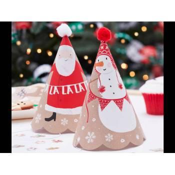 6 Chapeaux de fête Père Noël et ses amis