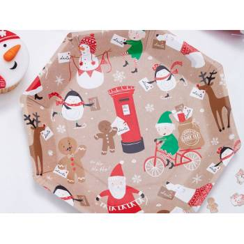 8 Assiettes octo Père Noël et ses amis