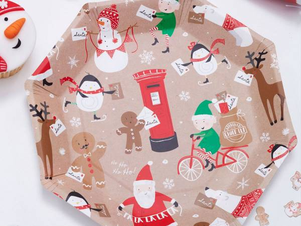 Assiettes octo Père Noël et ses amis