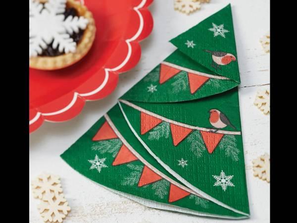 Serviettes Sapins de Noël