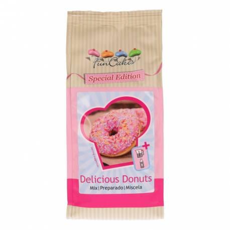 Préparation toute faite pour réaliser de superbes Donuts, il suffit d'ajouter de l'eau et de l'huile au mélange. Prévoyez-les au four ou...