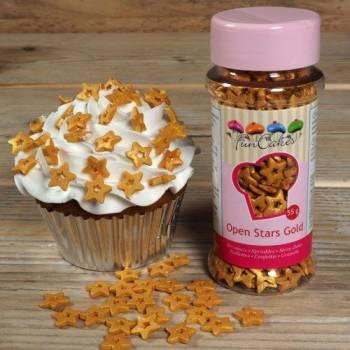 Confettis en sucre open star or Funcakes
