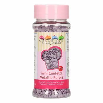 Confettis en sucre violette irisé 70gr