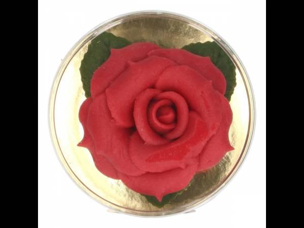 Rose en p te d 39 amande rouge thema deco - Deco gateau pate d amande ...