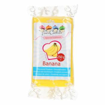 Pâte à sucre Funcakes saveur banane