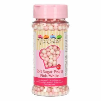 Perles en sucre funcakes rose/blanc