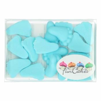 16 Petons bleu en pâte à sucre