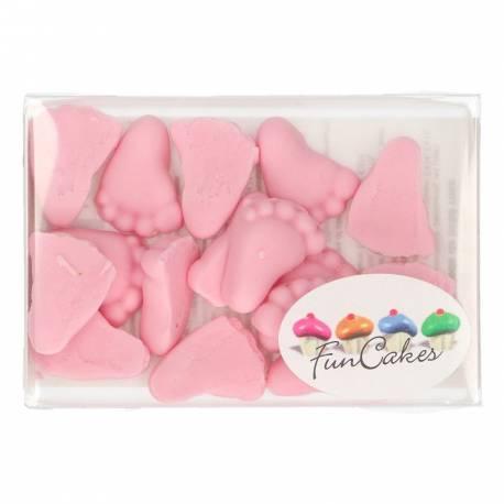 Belles décorations en pâte à sucre rose FunCakes. Fun, décoration rapide et excellent pour la décoration des gâteaux et des petits...