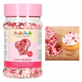 Confettis en sucre mix Love Funcakes