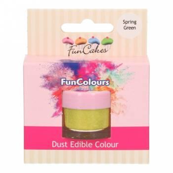 Colorant en poudre Funcakes vert printemps